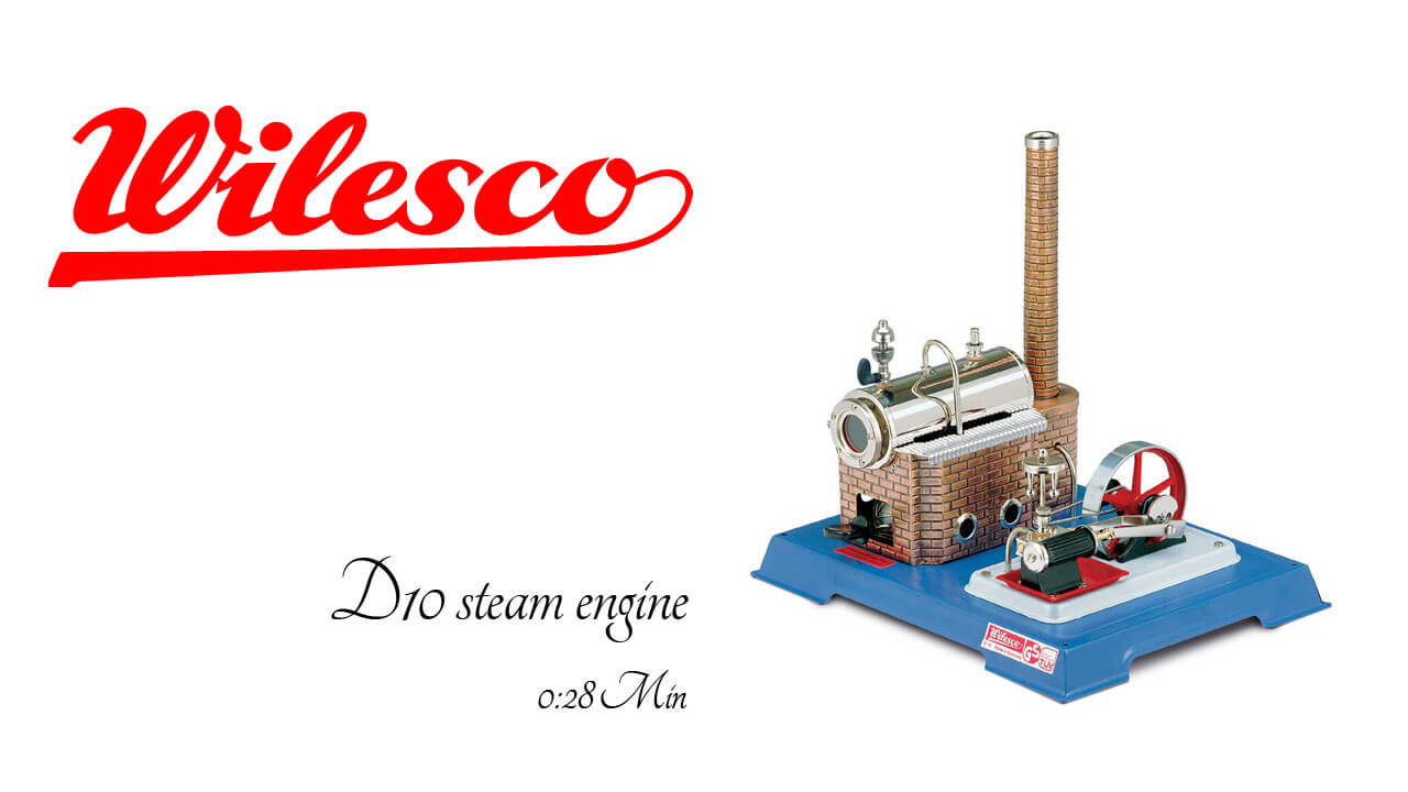 Wilesco D 10 Steam Engine Powered Toys Steam Powered